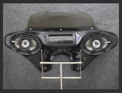 MeanCycles | SMALL BLACK BATWING FAIRING W/ 6 x 9 ...