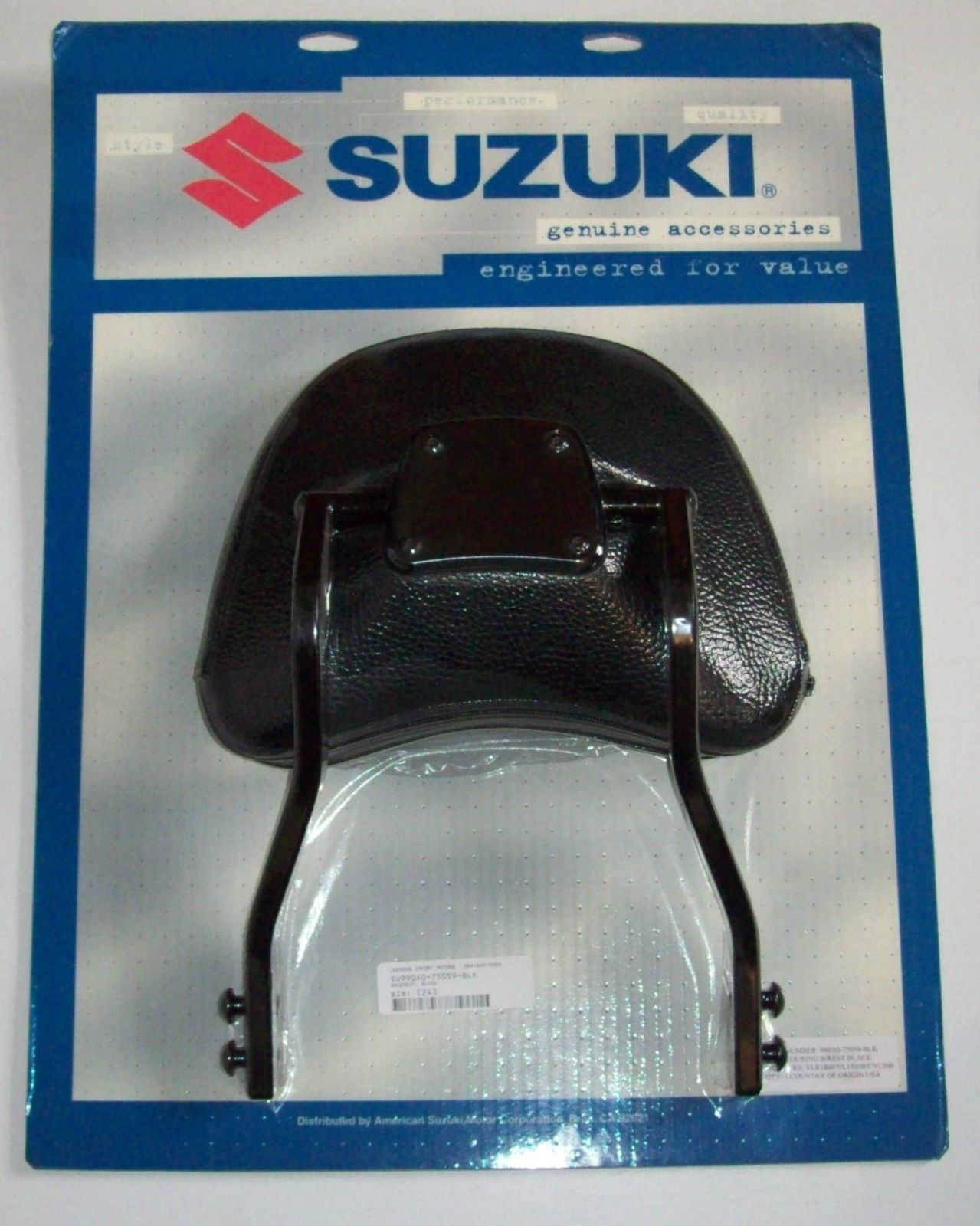 MeanCycles | SUZUKI BACKREST BLACK WITH PAD ((2 IN STOCK ...