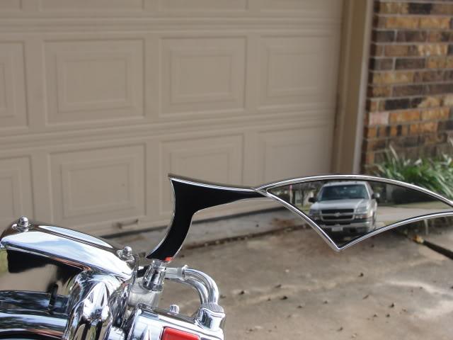 meancycles odins chrome set  mirrors pair part  vt