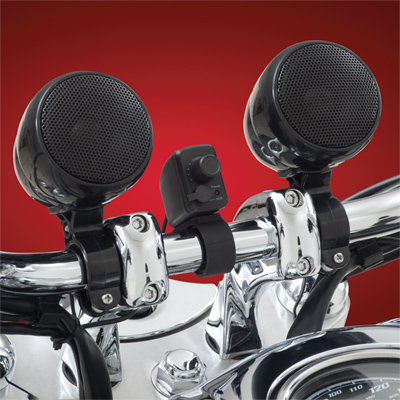 Meancycles Waterproof Motorcycle Stereo System Set