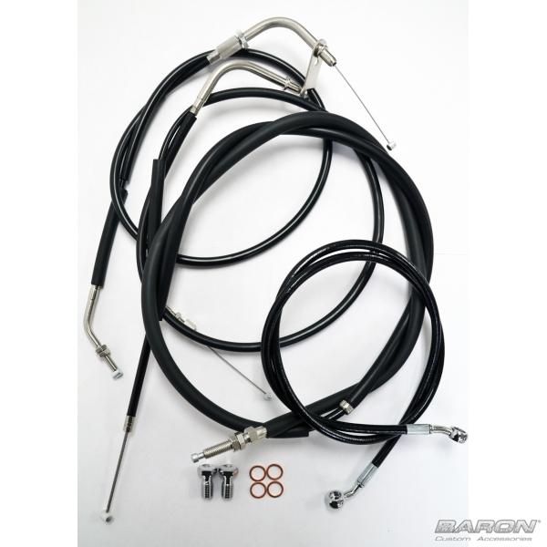 MeanCycles | YAMAHA BOLT BLACK CABLE KIT 12