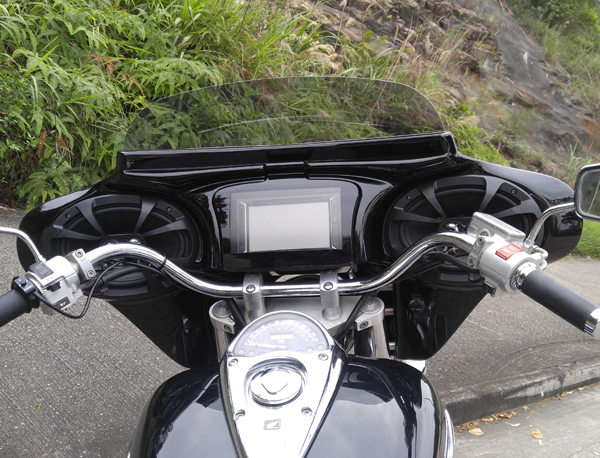 Meancycles One Piece Gps Stereo Quick Detacable Boox One