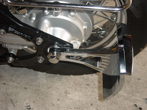 Meancycles Side Mount License Plate Custom Axle Nut For