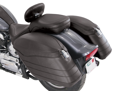 Meancycles Hard Fiberglass Saddlebags Covered With