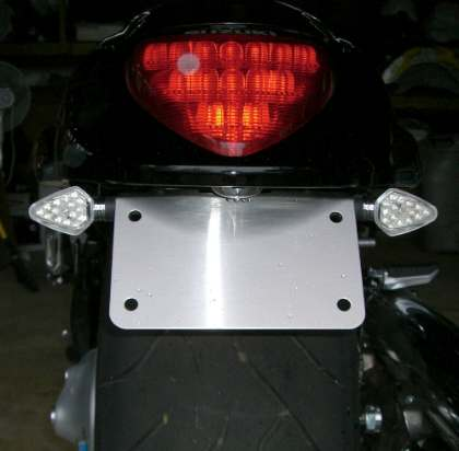 Meancycles Stainless Steel License Plate Bracket For