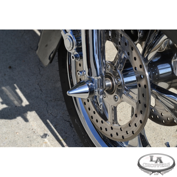 Meancycles Spike Chrome Axle Caps For Harley Part No