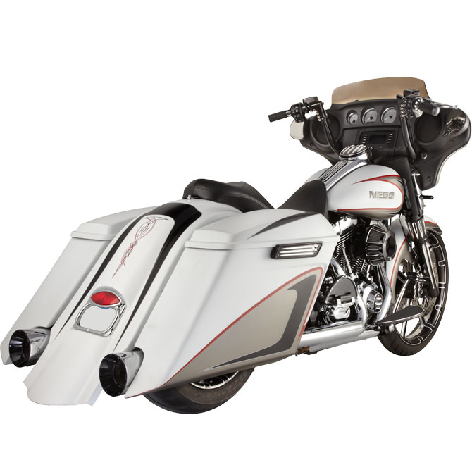 MeanCycles | DOWN-N-OUT STRETCHED SADDLEBAGS FOR HARLEY