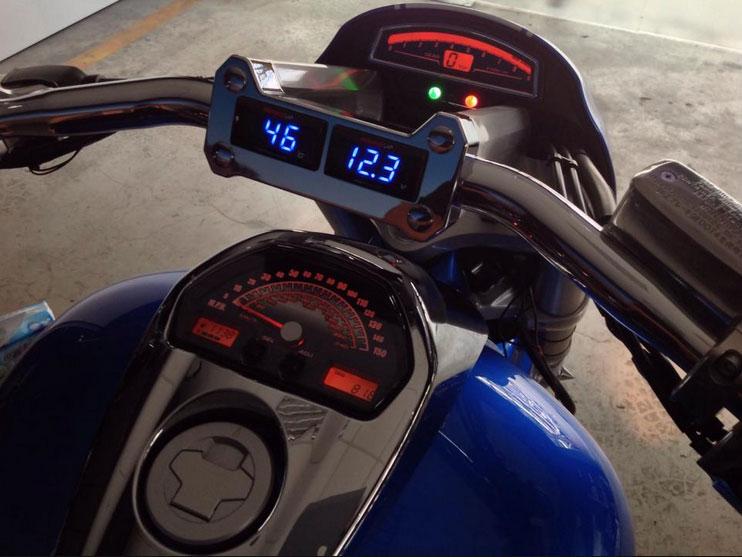 Avon Motorcycle Tires >> MeanCycles | VOLTMETER & TEMPERATURE GAUGES PLUS CHROME ...